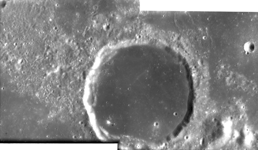 Lunar crater Billy seen by SMART-1