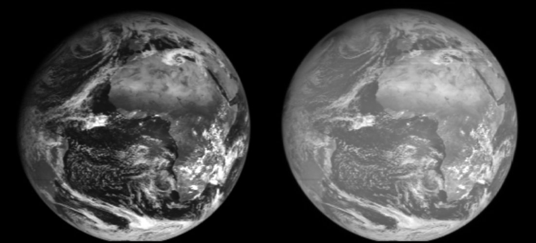 Some of the first MSG-2 images