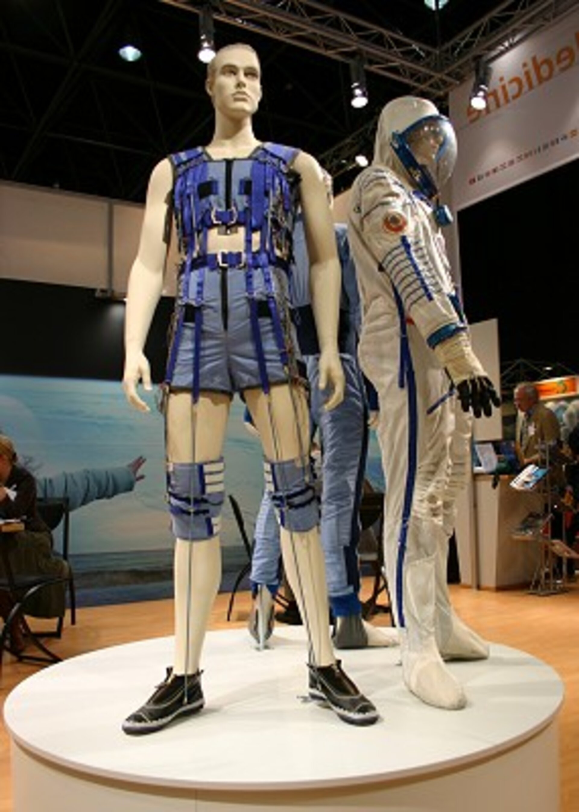 The 'Regent' rehabilitation suit at ESA's booth