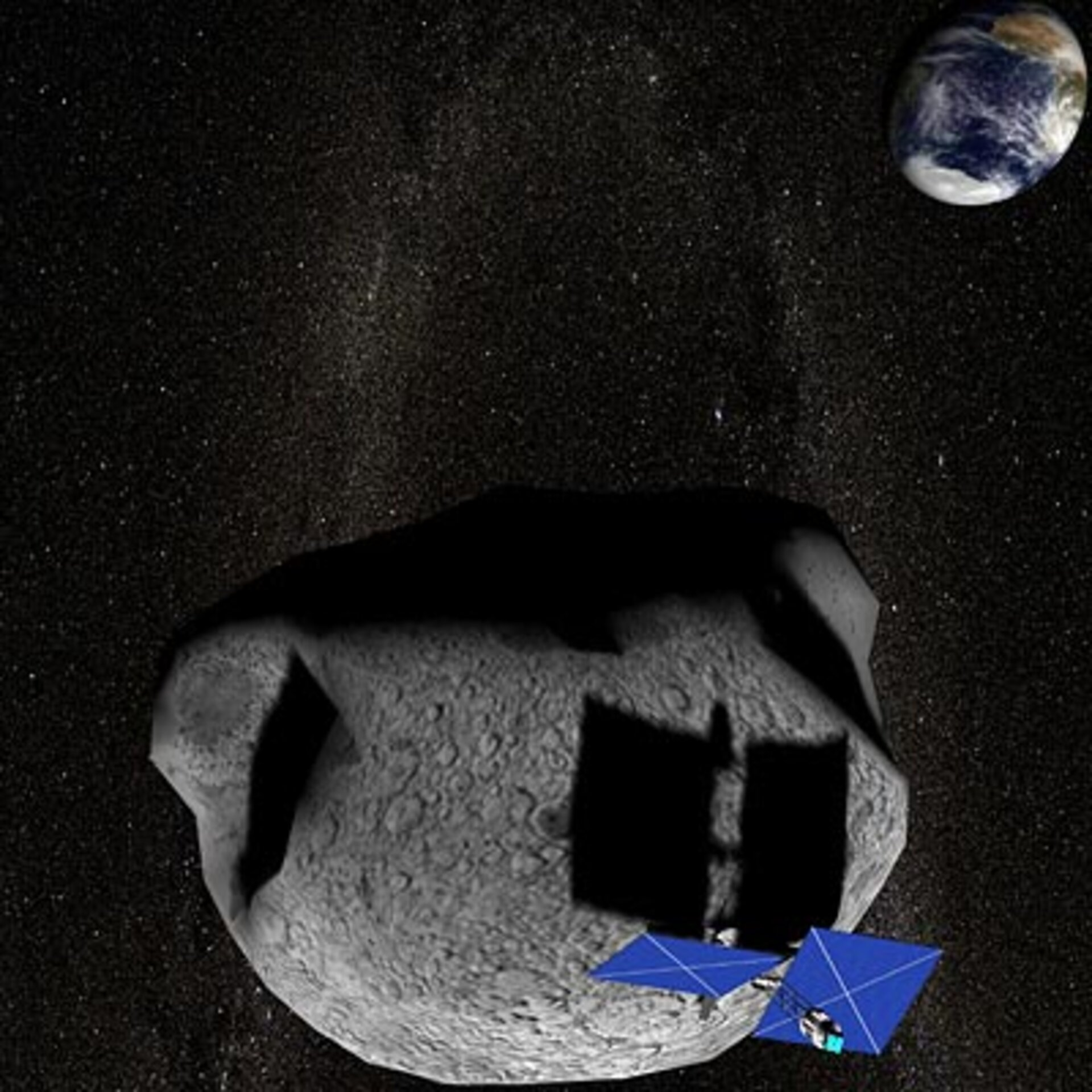 Tethering an asteroid to spin it