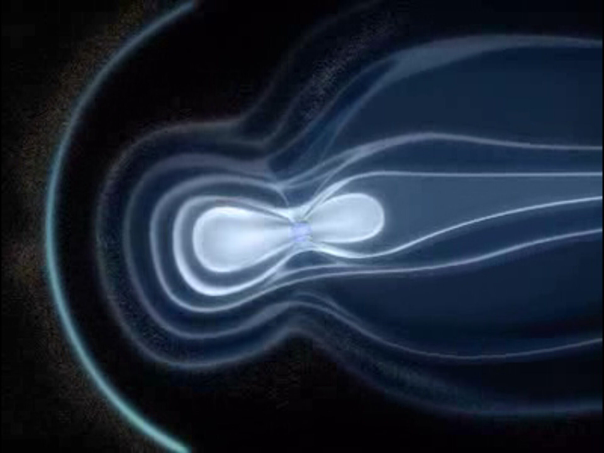 Artist impression of Earth's magnetic field