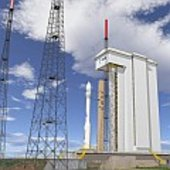 Artist's impression of Vega on the launch pad