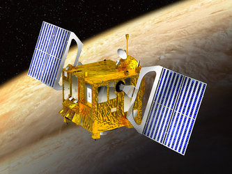 Artist's view of ESA's Venus Express probe in orbit around Venus
