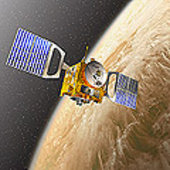 Venus Express in orbit around Venus