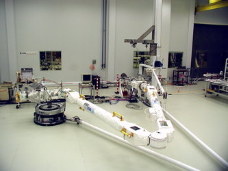 European Robotic Arm (ERA) during flat floor testing