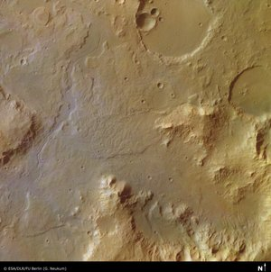 Libya Montes valley region on Mars
