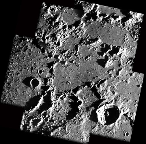 Mayer and Bond craters seen by SMART-1