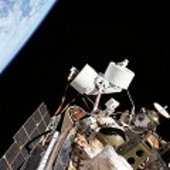 Antennas on the outside of ISS