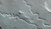 3D anaglyph of nanedi Valles