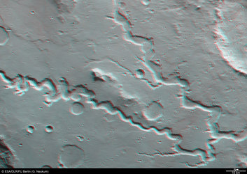 3D anaglyph view of the Nanedi Valles valley