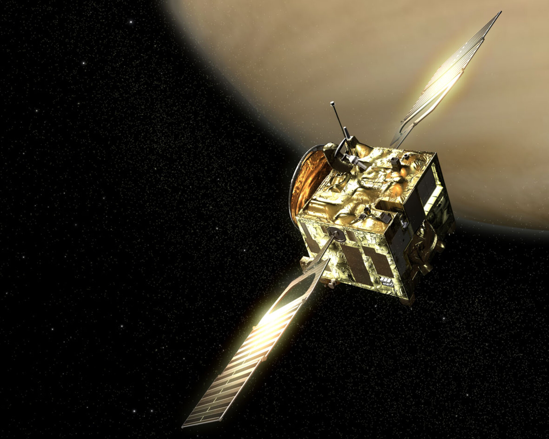 Artist's impression of Venus Express