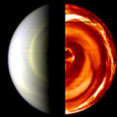Composite, false-colour view of Venus south pole captured by VIR