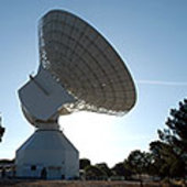 Deep space radio antenna in Cebreros