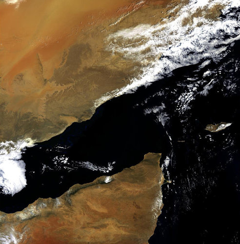 Envisat image of the Gulf of Aden