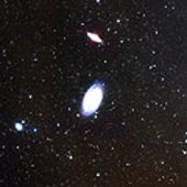 The spiral galaxy M81 and the neighbour galaxy M82