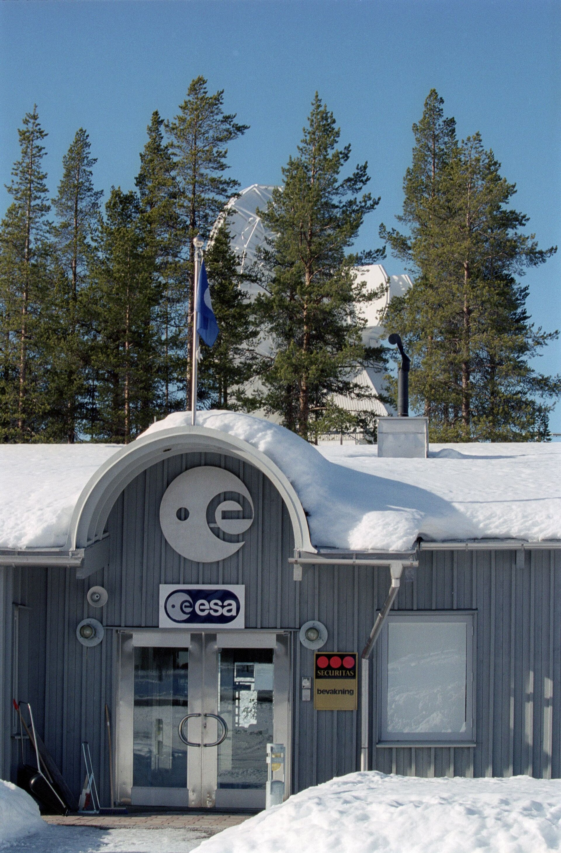 Main entrance to Kiruna's control center