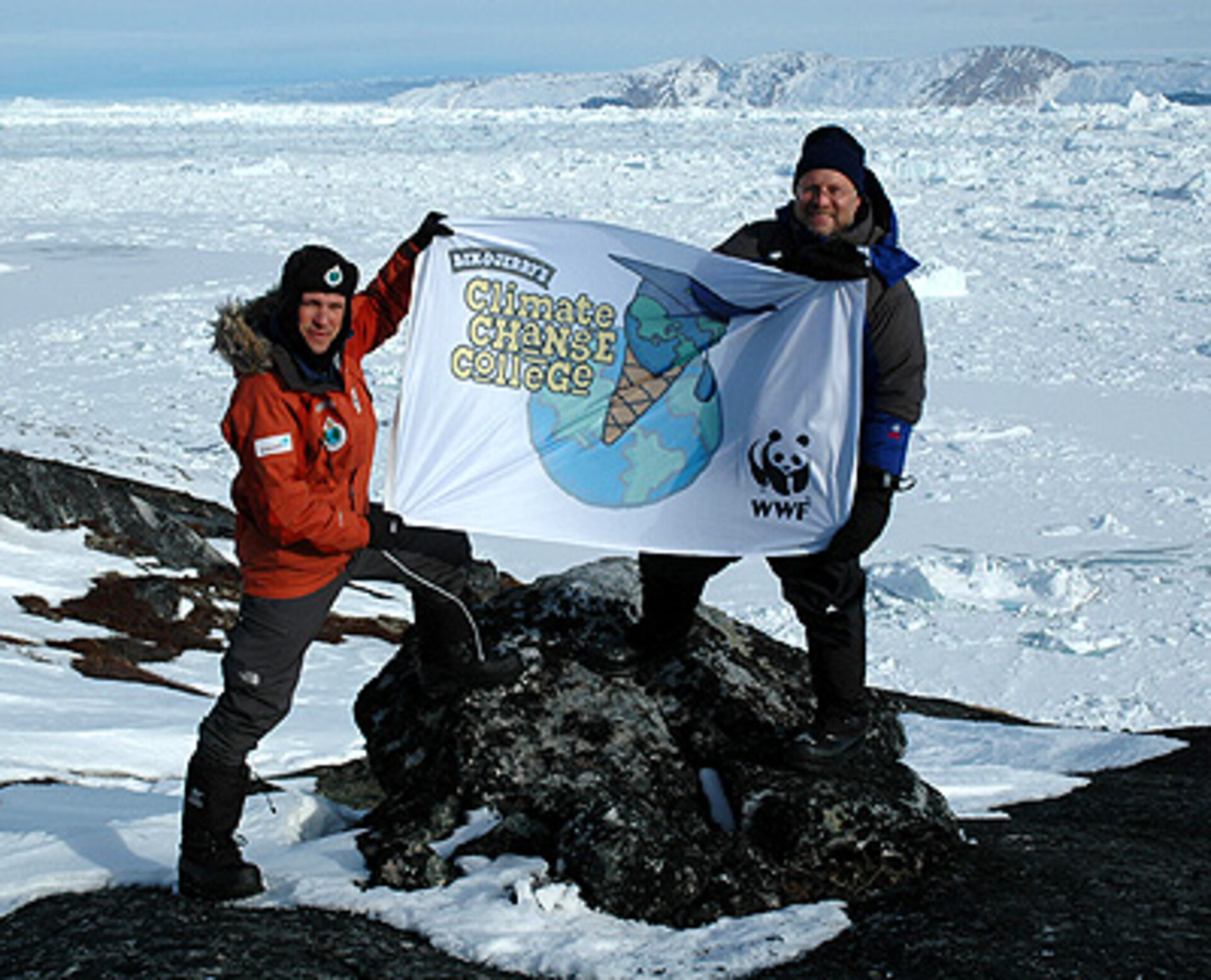 Marc Cornelissen and Jerry Greenfield in Greenland