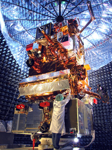 MetOp-A undergoing final testing