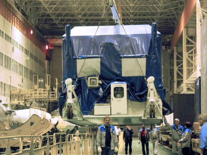 MetOp's Payload Module Container unloaded