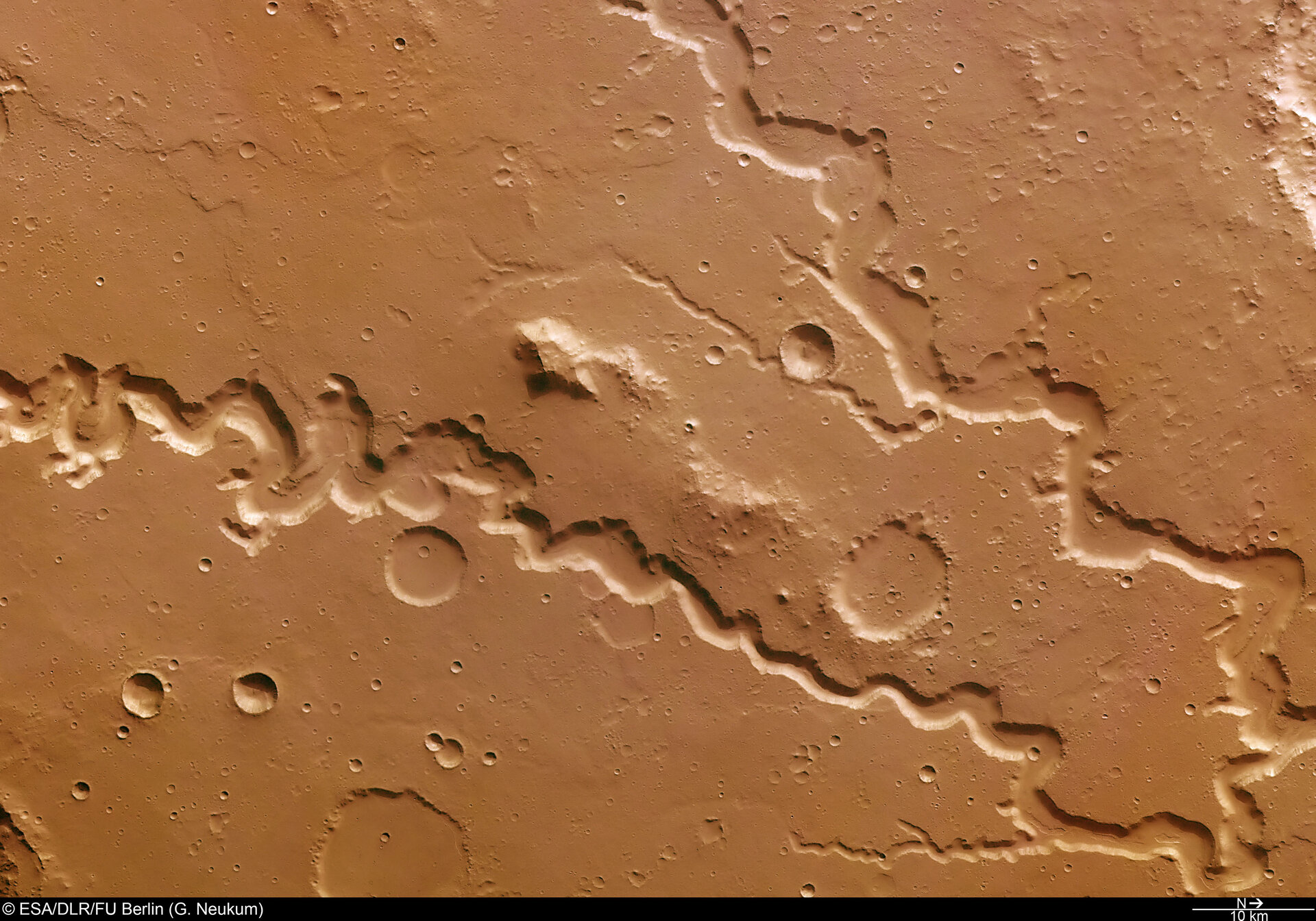Nanedi Valles valley system on Mars