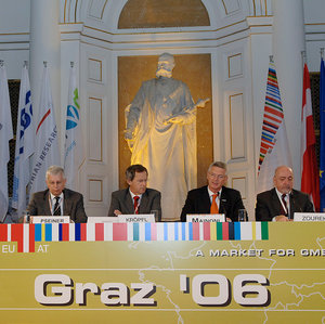 The GMES press conference in Graz