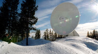 The large 15-m tracking antenna in Kiruna