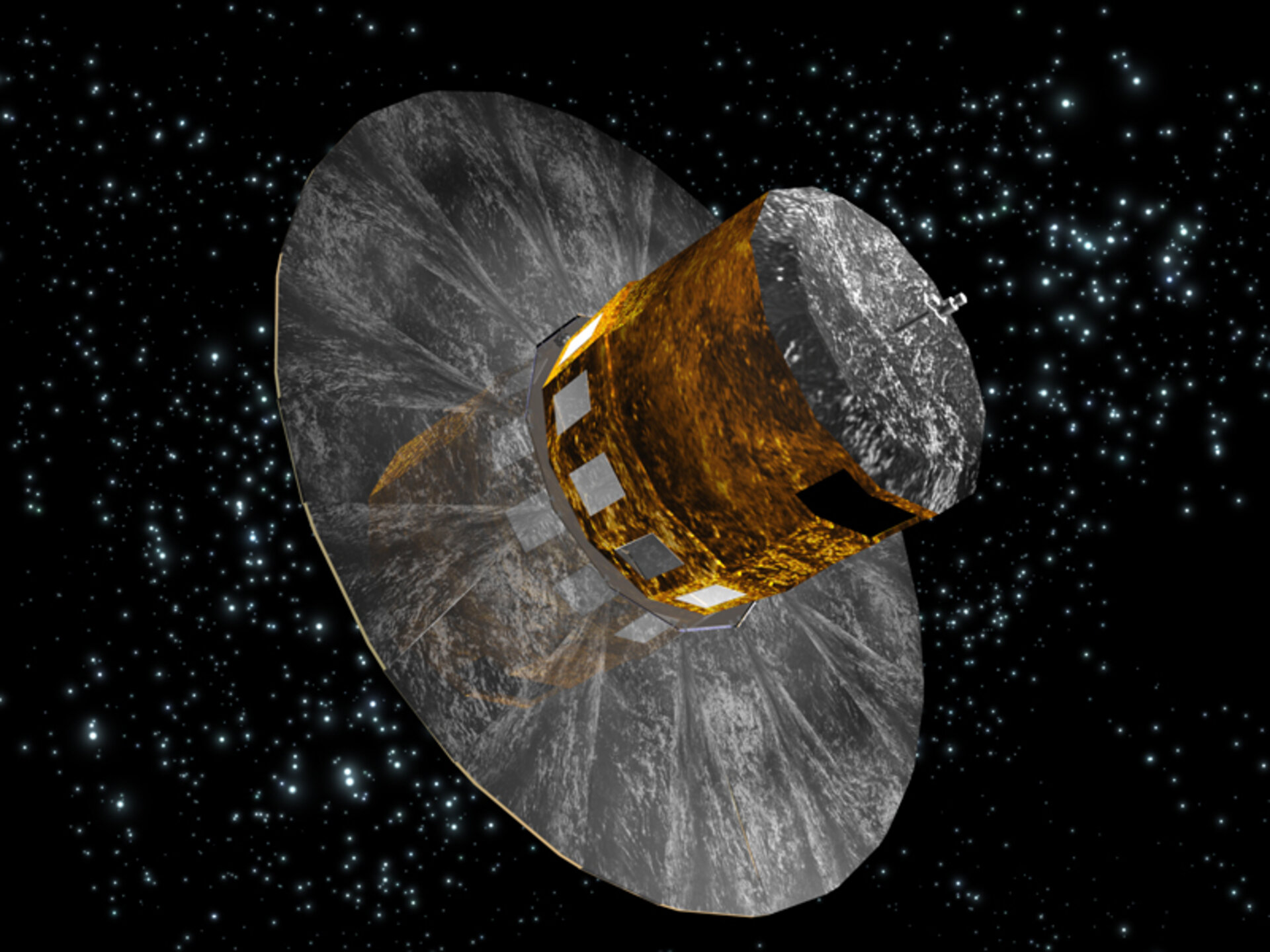 Artist's impression of the Gaia satellite