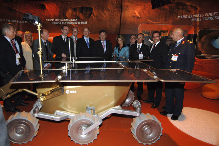ExoMars on display in the space pavilion at ILA