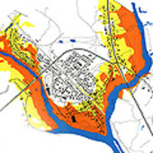 Flood  risk map of Badger