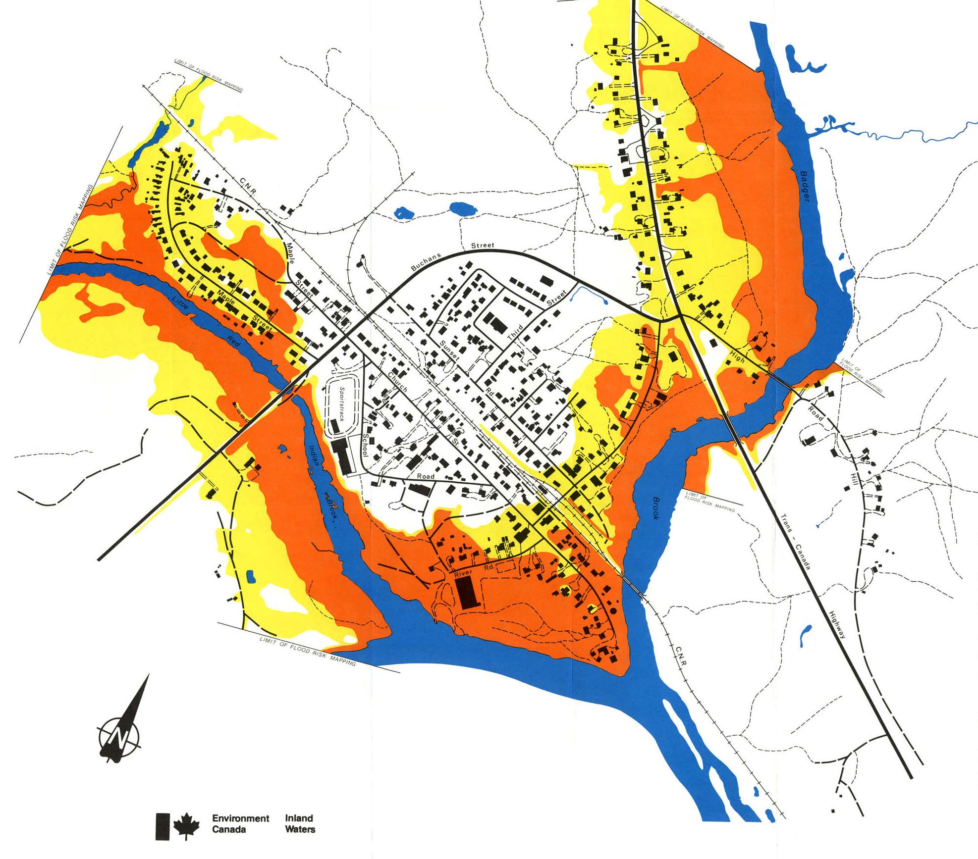 Flood Risk Map Space in Images   2006   05   Flood risk map of Badger Flood Risk Map