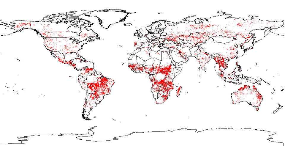 Global detection of hot spots in 2005