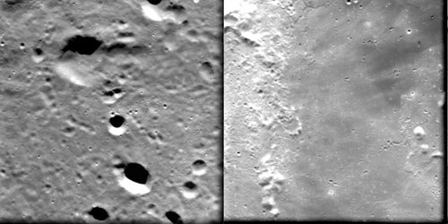 Highlands and 'mare'  seen by SMART-1