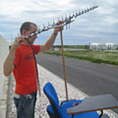Orientation of the antenna for reception of the video