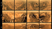 Views of Titan from different altitudes