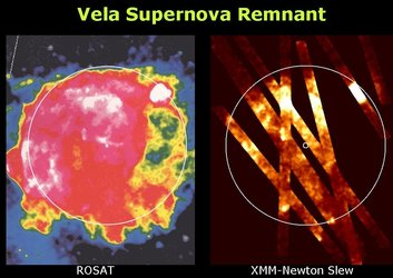 XMM-Newton slew survey of the Vela supernova remnant