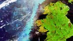 [7/9] A plankton bloom across Ireland captured by Envisat