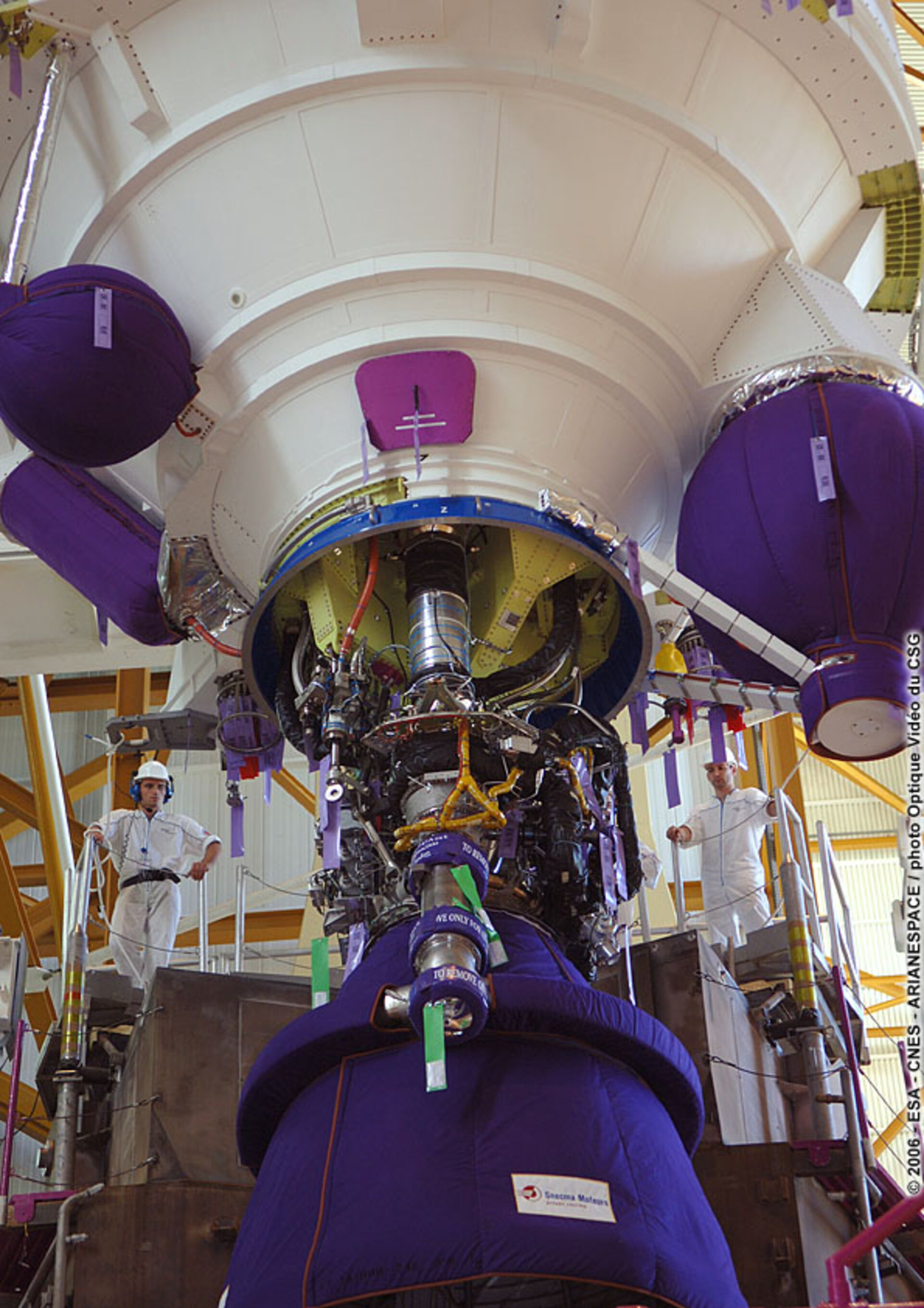 Ariane 5 main stage ready for mating