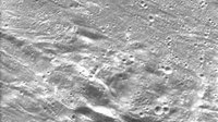 Elongated ejecta debris from Orientale basin