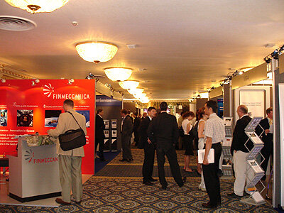 Exhibitor hall at SpaceOps 2006