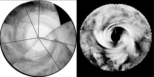 Mariner 10 and Pioneer Venus views of Venus south pole