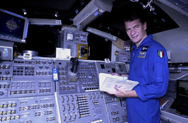 Nespoli during training at JSC