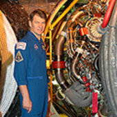 Paolo Nespoli at the Kennedy Space Center