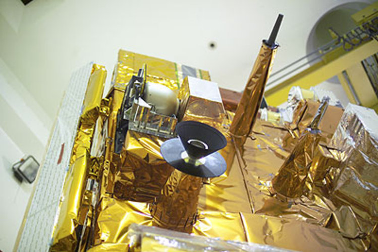 Preparation for acoustic testing - close up view