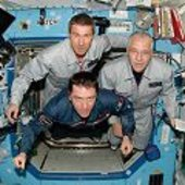 Vittori with Expedition 11 crew