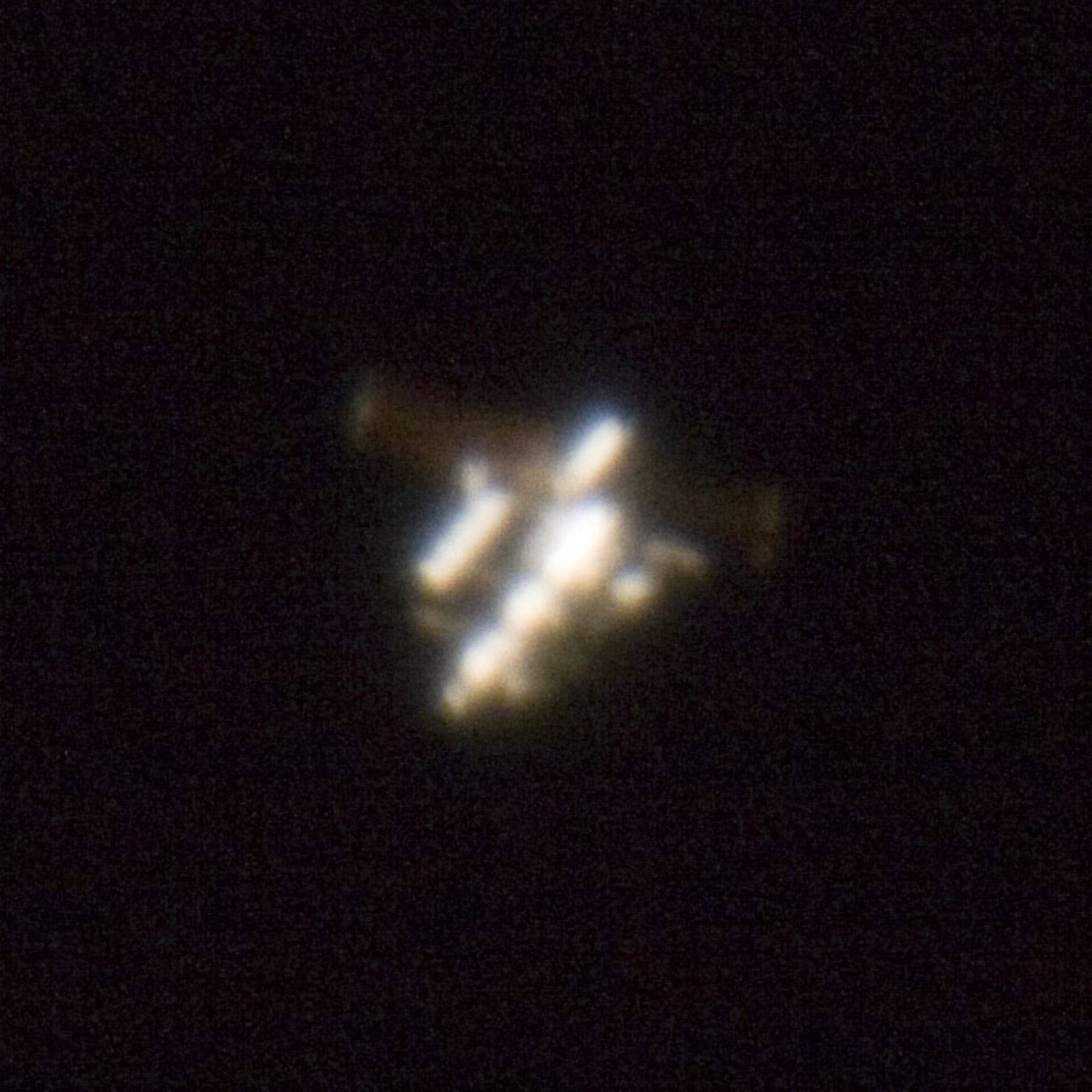 The ISS can be photographed from Earth - a team in Munich captured this detailed image on 12 June 2006
