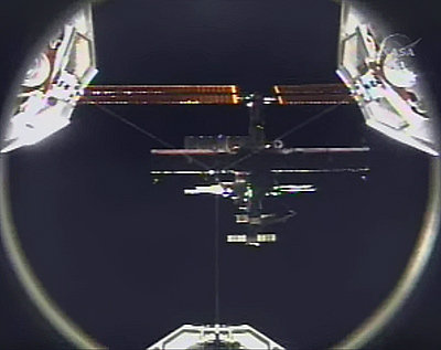 ISS from Discovery