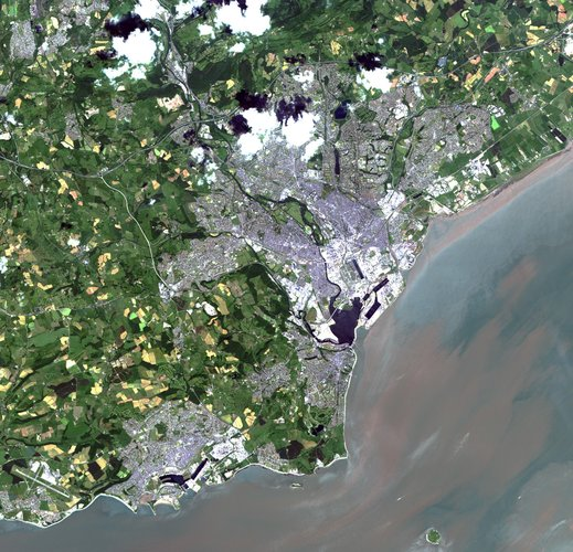 ALOS image over Cardiff, Wales