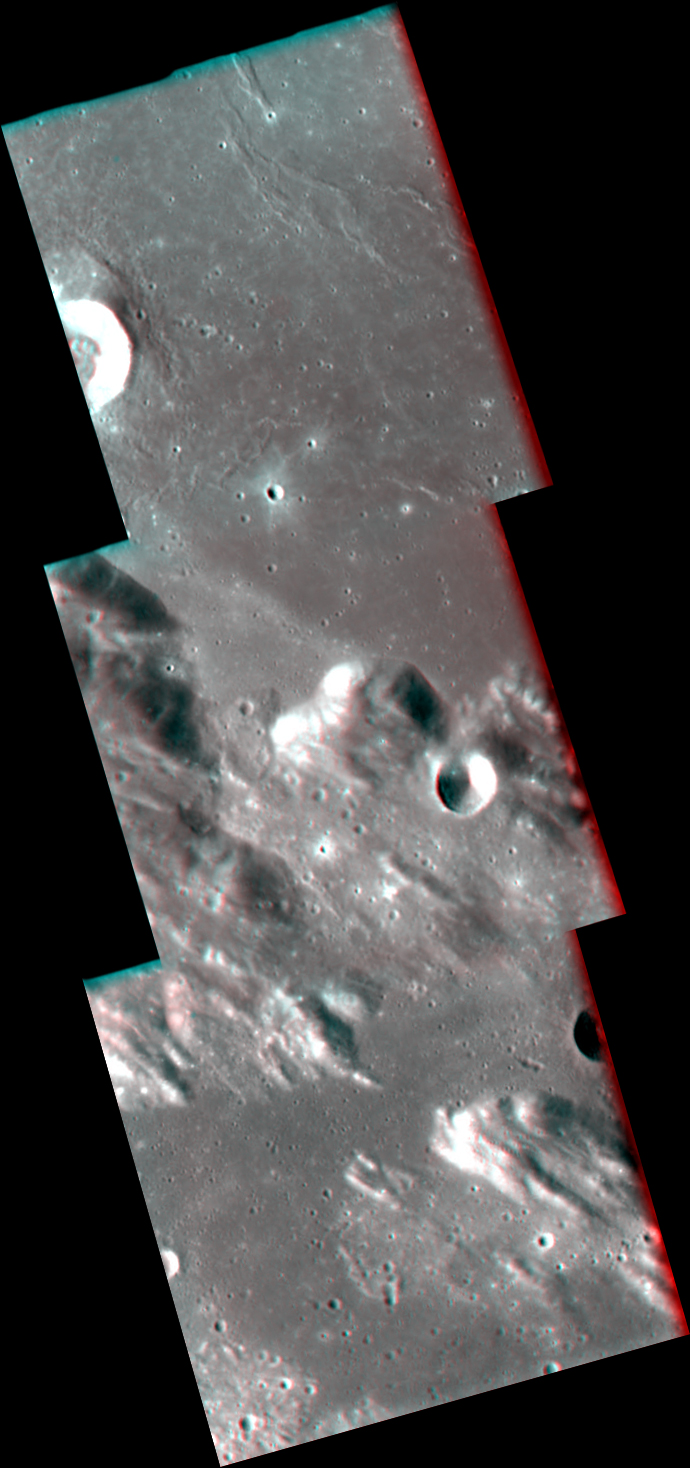 Anaglyph view of sulpicius gallus crater
