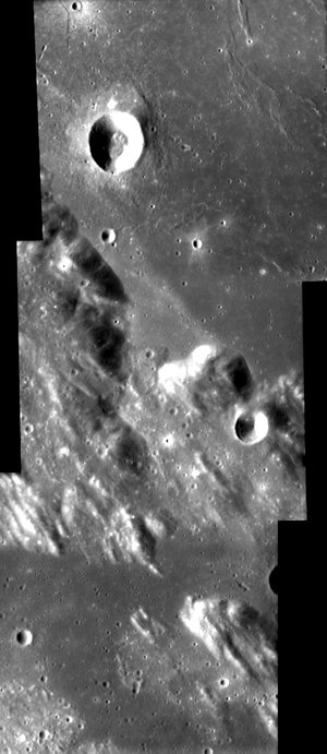 Area around the Sulpicius Gallus crater on the Moon