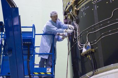 Automated Transfer Vehicle (ATV) in the acoustic test facility (LEAF)
